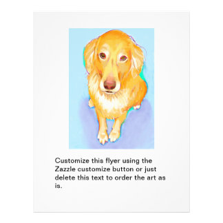 Golden retriever dog portrait cute pet fun artwork 21.5 cm x 28 cm flyer