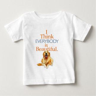 Golden Retriever dog watercolor everyone beautiful Baby T-Shirt