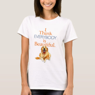 Golden Retriever dog watercolor everyone beautiful T-Shirt