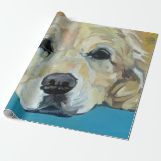 Golden Retriever Dog Wrapping Paper