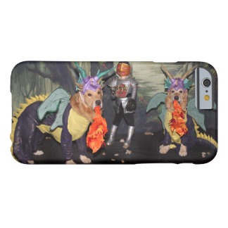 Golden Retriever Dragons Fighting a Knight Barely There iPhone 6 Case