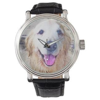 Golden Retriever Face Wristwatch