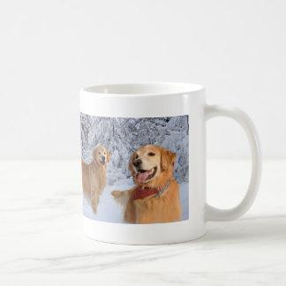 Golden Retriever Family Snow Mug