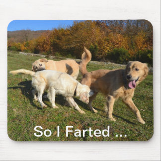 Golden Retriever Fart Mouse Pad