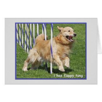 "Golden Retriever Funny Birthday Card ""Flappy"""
