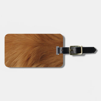 Golden Retriever Fur Luggage Tag