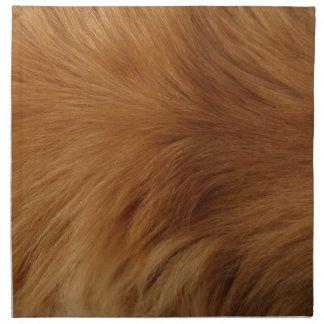 Golden Retriever Fur Napkin