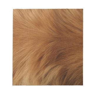 Golden Retriever Fur Notepad