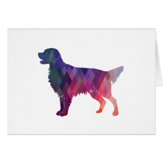 Golden Retriever Geometric Pattern Silhouette Card