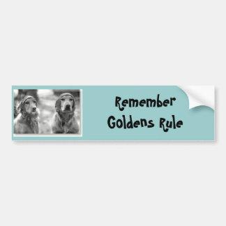 Golden Retriever Goldens Rule Bumper Sticker