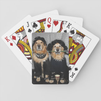 Golden Retriever Goth Style Playing Cards