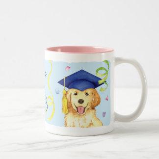 Golden Retriever Graduate Two-Tone Coffee Mug