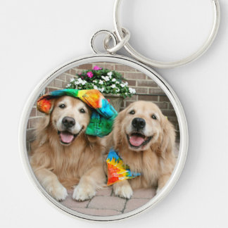 Golden Retriever Groovy Keychain