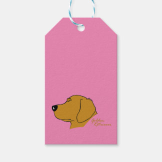 Golden retriever head silhouette gift tags