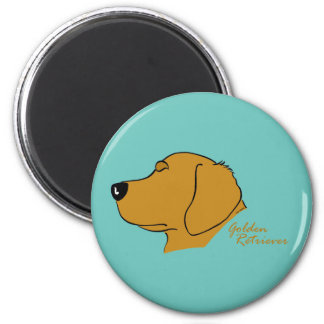 Golden retriever head silhouette magnet