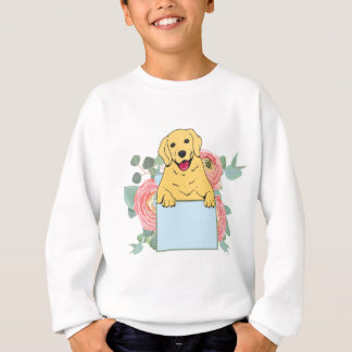 Golden Retriever Holding Sign Sweatshirt
