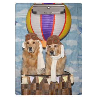 Golden Retriever Hot Air Balloon Pilots Clipboard