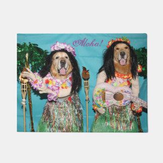 Golden Retriever Hula Dancers Doormat