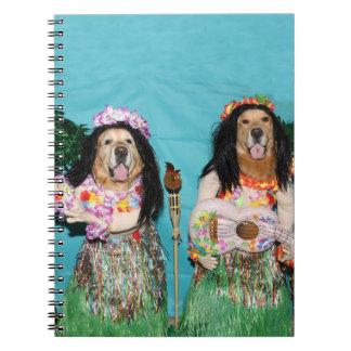 Golden Retriever Hula Dancers Notebooks
