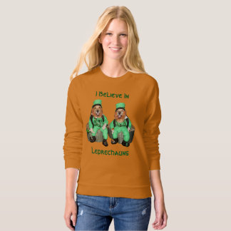 Golden Retriever I Believe in Leprechauns Sweatshirt