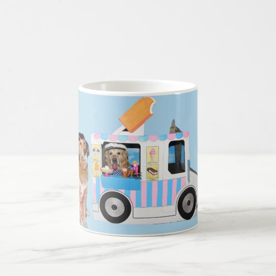 Golden Retriever Ice Cream Truck Coffee Mug
