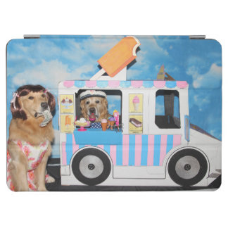 Golden Retriever Ice Cream Truck iPad Air Cover