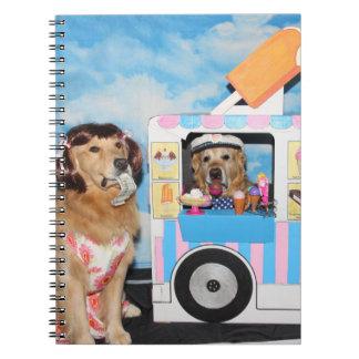 Golden Retriever Ice Cream Truck Notebook