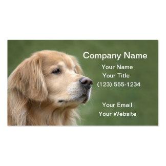 Golden Retriever in Closeup Business Card Templates
