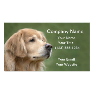 Golden Retriever in Closeup Pack Of Standard Business Cards
