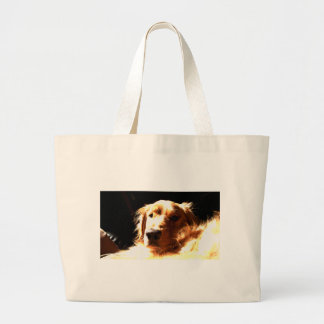 Golden Retriever In Sunlight Large Tote Bag
