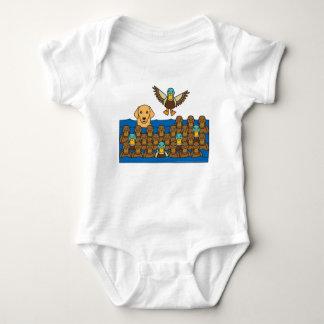 Golden Retriever in the Ducks Baby Bodysuit