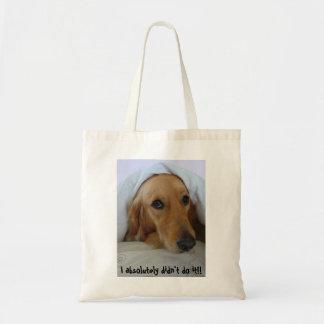 Golden Retriever, Innocent!! Tote Bag