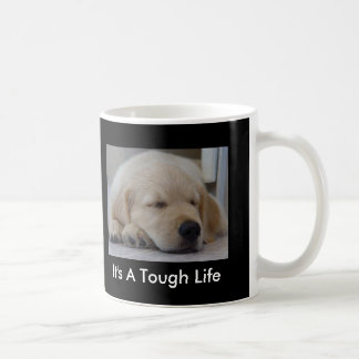 Golden Retriever It's A Tough Life Puppy Mug