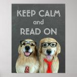 Golden Retriever Keep Calm Read On Classroom