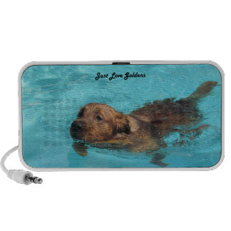 Golden Retriever Laptop, iPhone Speaker