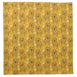 Golden Retriever Line Art Napkin