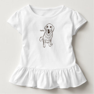 Golden Retriever Line Art Toddler T-Shirt