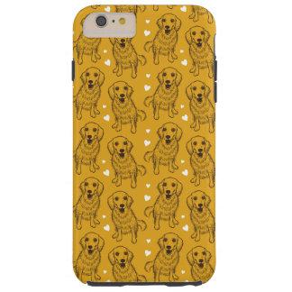 Golden Retriever Line Art Tough iPhone 6 Plus Case