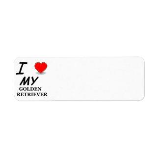 golden retriever love return address label