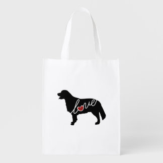 Golden Retriever Love Reusable Grocery Bag
