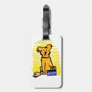 Golden Retriever Luggage Tag