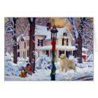 Golden Retriever Mail Box Christmas Card