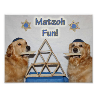 Golden Retriever Matzoh Fun Passover Poster