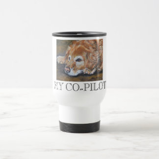 Golden Retriever MY CO-PILOT travel mug