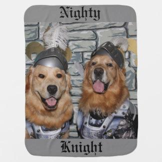 Golden Retriever Nighty Knight Receiving Blankets