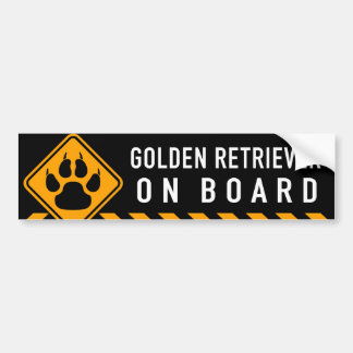 Golden Retriever On Board Bumper Sticker