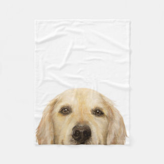 Golden Retriever original painting print blanket