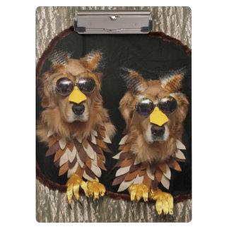 Golden Retriever Owls Clipboards