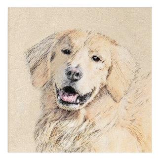 Golden Retriever Painting - Cute Original Dog Art