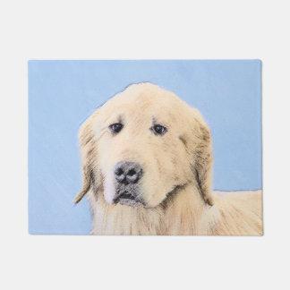 Golden Retriever Painting - Cute Original Dog Art Doormat